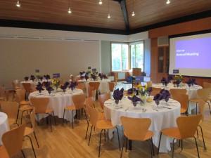 Worship Room set up for Dinner